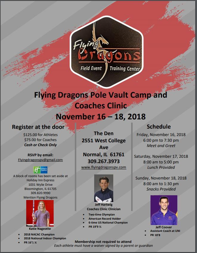 2018 Flying Dragons Pole Vault Camp and Coaches Clinic